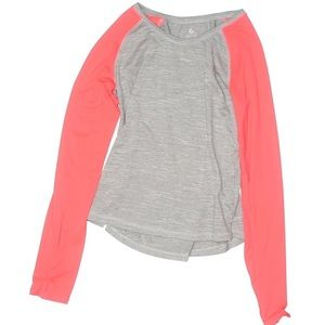 Old Navy grey w pink long sleeves top NWOT sz G 14